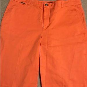 Orange Ralph Lauren shorts